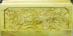 Tiểu quách gỗ vàng tâm trạm rồng