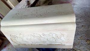 Tiểu quách gỗ vàng tâm trạm Tả Thanh Long, Hữu Bạch Hổ